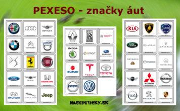 Pexeso - značky áut - pre deti