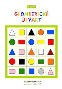 Bingo geometrické tvary
