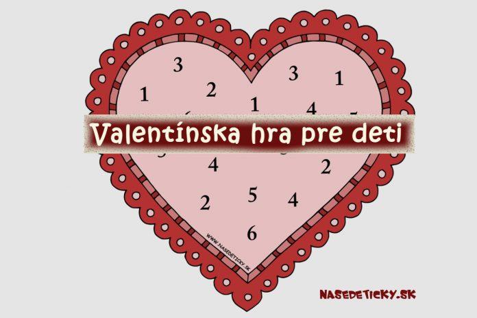 Valentínska hra pre deti