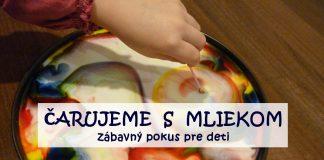 Pokus pre deti s mliekom