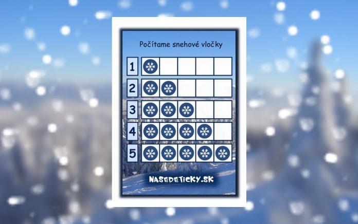 Počítanie pre deti - snehové vločky