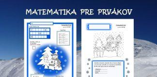 Pracovný list - matematika -prváci