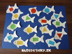Učíme sa geometrické tvary - rybky
