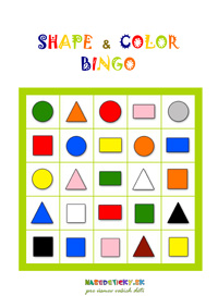 Shape and color BINGO