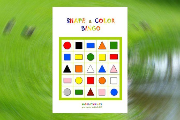 Shape and color BINGO