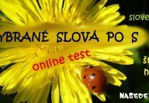 Vybrané slová po S - online test