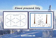 Zimné pracovné listy - grafomotorika