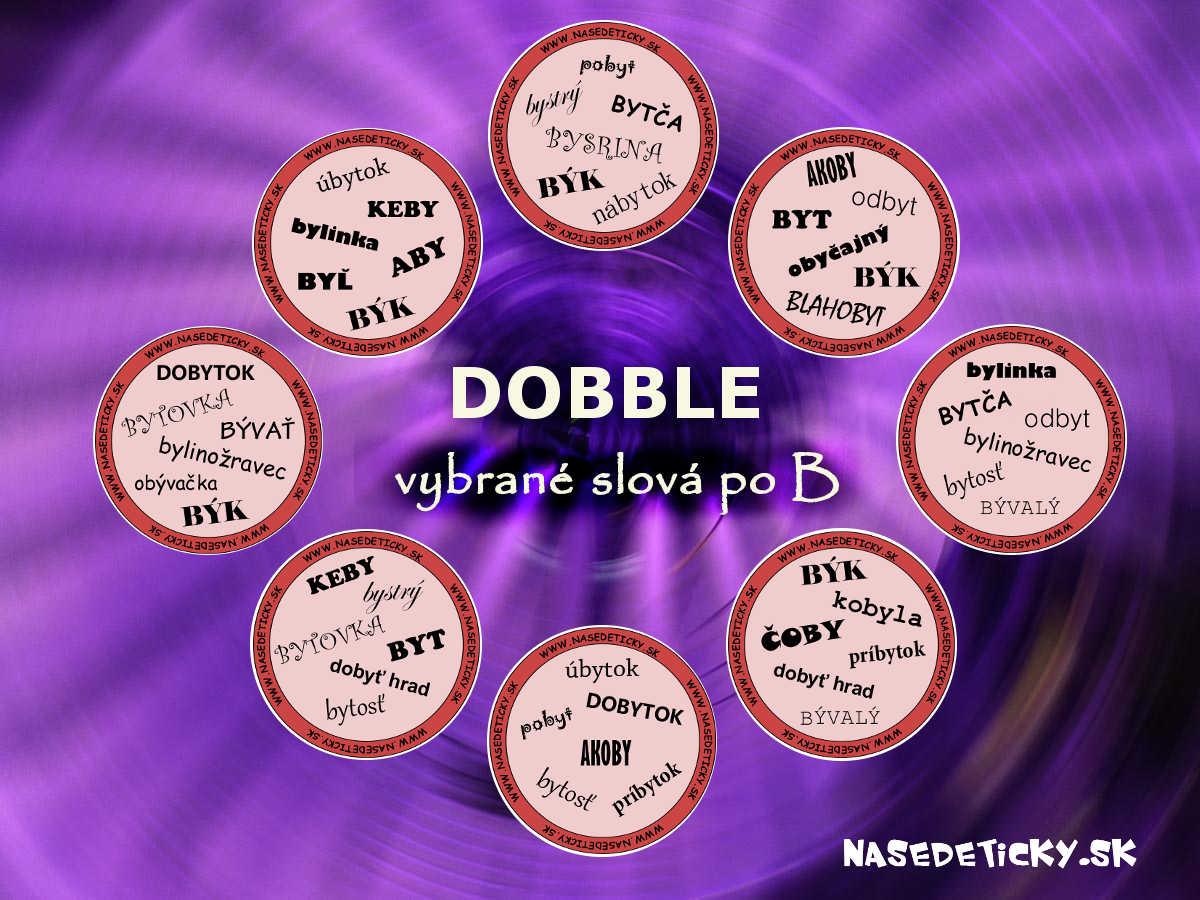 b6a13b683 Hra DOBBLE - vybrané slová po B - Aktivity pre deti, pracovné listy ...