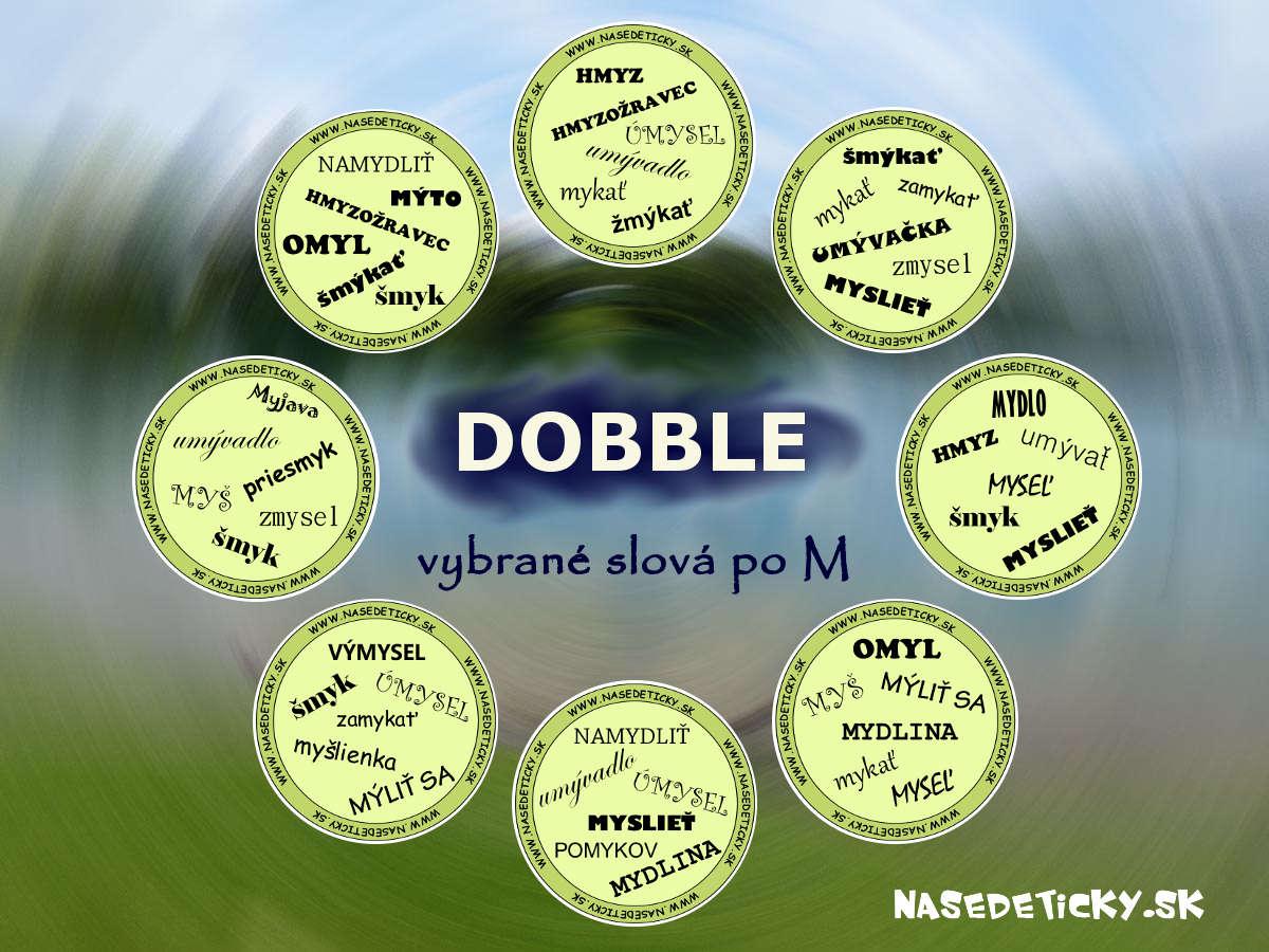68bbfd6e2 Hra DOBBLE - vybrané slová po M - Aktivity pre deti, pracovné listy ...