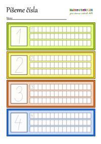 Čísla - pracovné listy