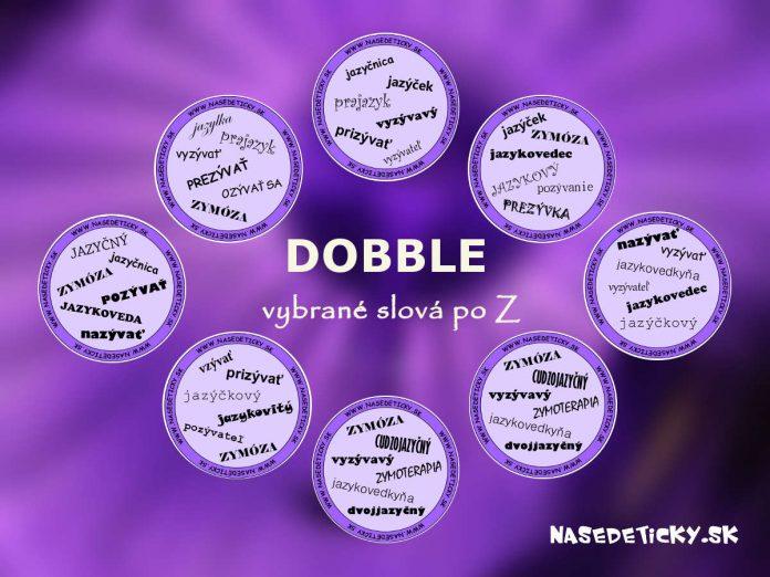 Dobble - vybrané slová po Z
