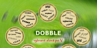 Dobble - vybrané slová po V