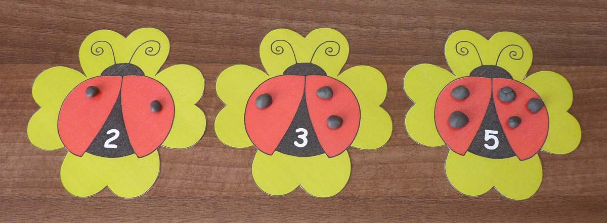 Lienka - kartičky na počítanie bodiek