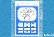 Elsa - pracovný list matematika