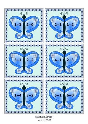 Motýliky - počítame do 10