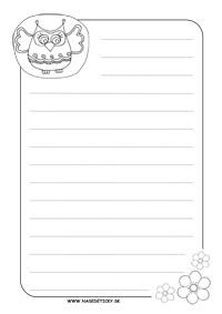 Listový papier - sova