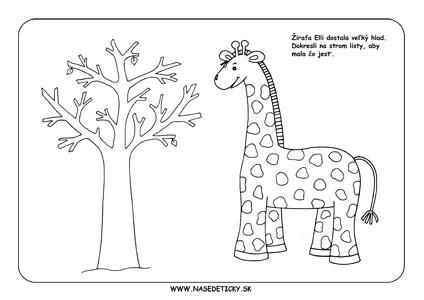Žirafa - pracovný list