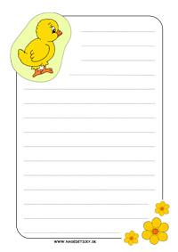 Listový papier - kuriatko