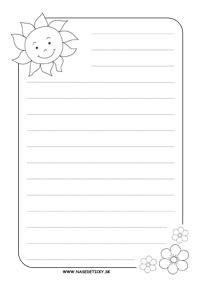 Listový papier so slniečkom