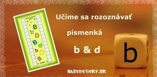 Rozlišujeme písmenká b a d