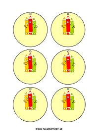 Medaila - farbičky