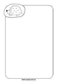 Ozdobný papier s ježkom