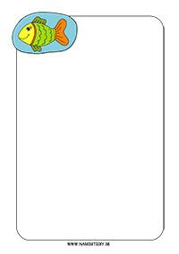 Ozdobný papier s rybkou