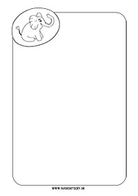 Ozdobný papier so sloníkom