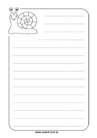 Slimák - listový papier