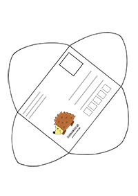 Obálka s ježkom