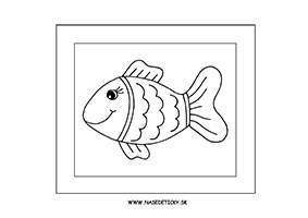 Rybka - omaľovánka