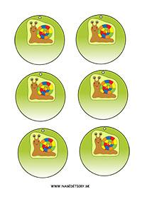 Slimák - medaily