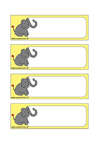 Slon - menovky