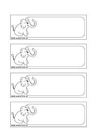 Sloník - menovky