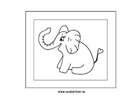 Slon - omaľovánka
