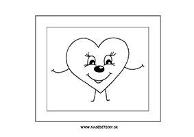 Srdiečko - omaľovánka