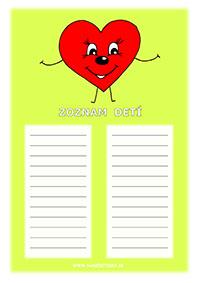 Srdiečko - zoznam detí