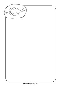 Ozdobný papier - obláčik