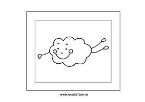 Oblak - omaľovánka