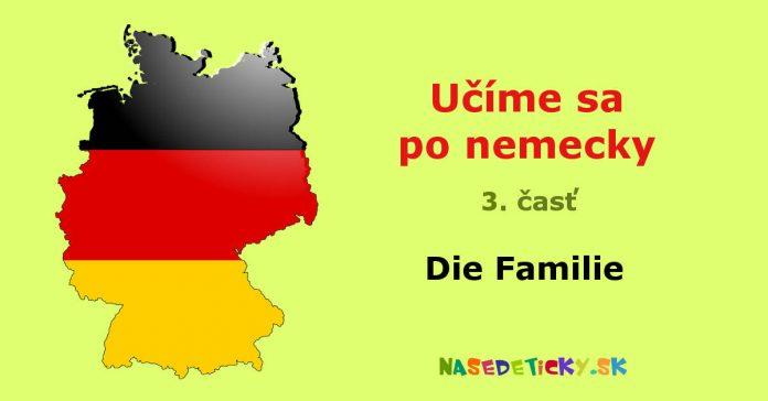 Nemčina - Die Familie