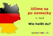 Nemčina - Wie heißt du?