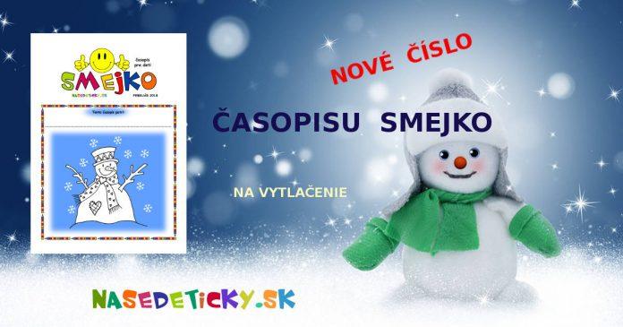 SMEJKO - časopis pre deti na vytlačenie