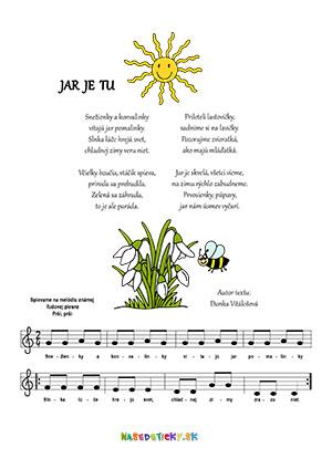 Jarná pieseň pre deti